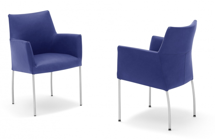Eettafelstoel Met Leuning.Invito Eetkamerstoel Met Armleuning Hulshoff Design Hulshoff